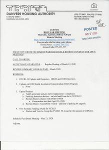 Housing Authority Agenda 4/23/20