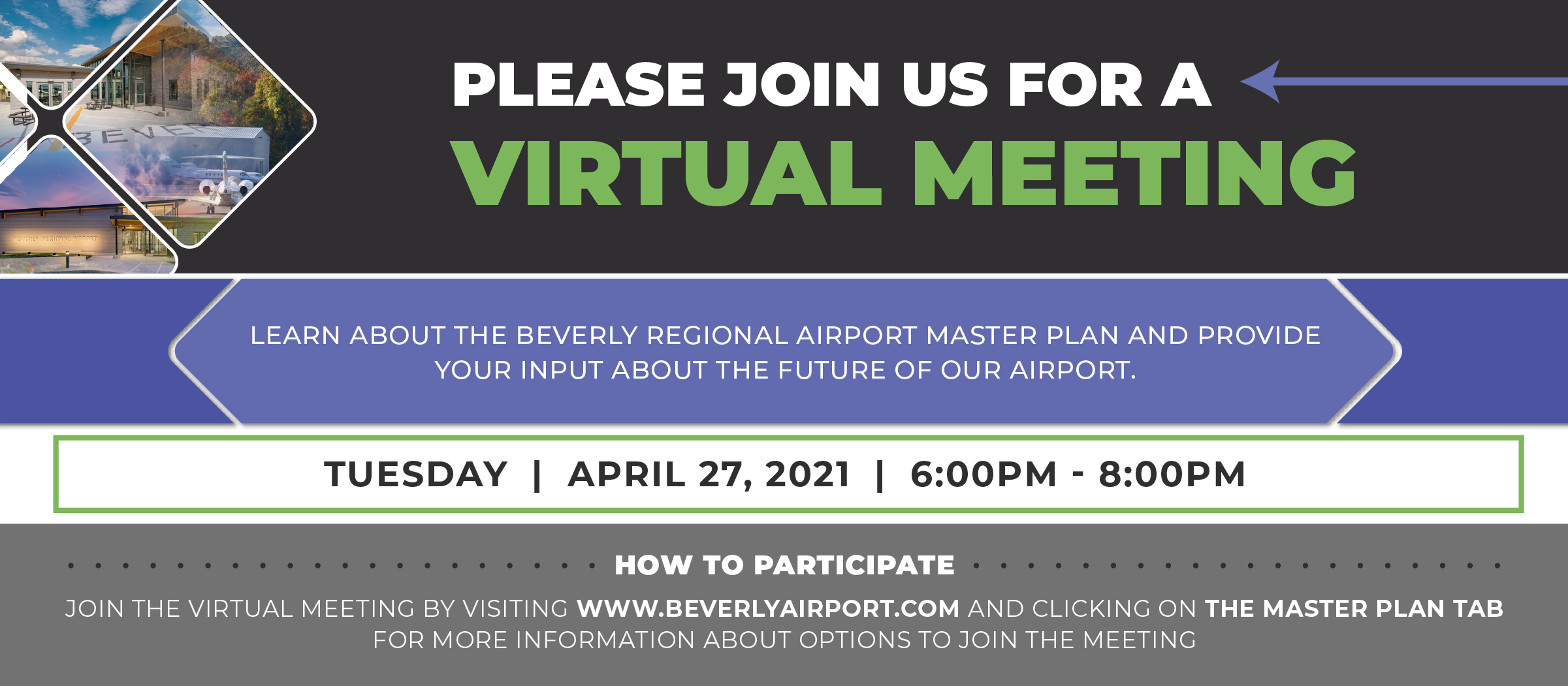 Beverly Airport Virtual Meeting Event