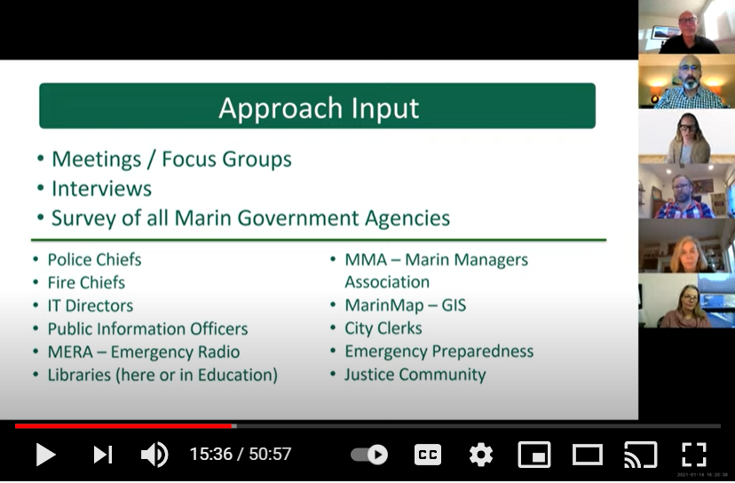 Screenshot from video of virtual kick-off meeting
