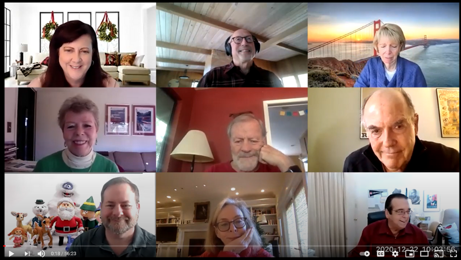 screenshot from the virtual kick-off meeting