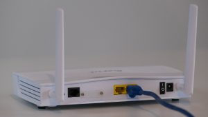 Picture of a home internet router