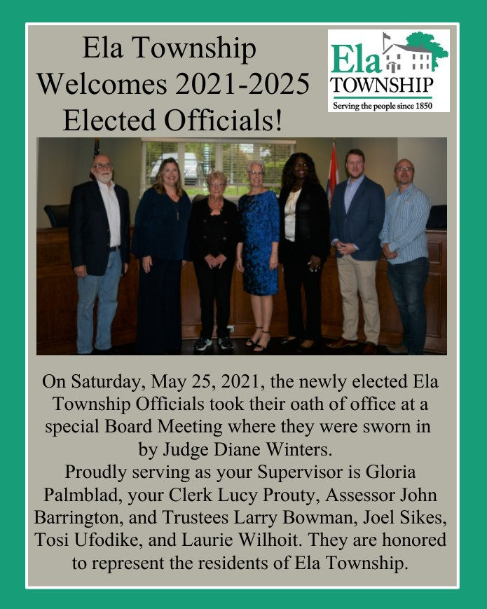 Welcome Elected Officials