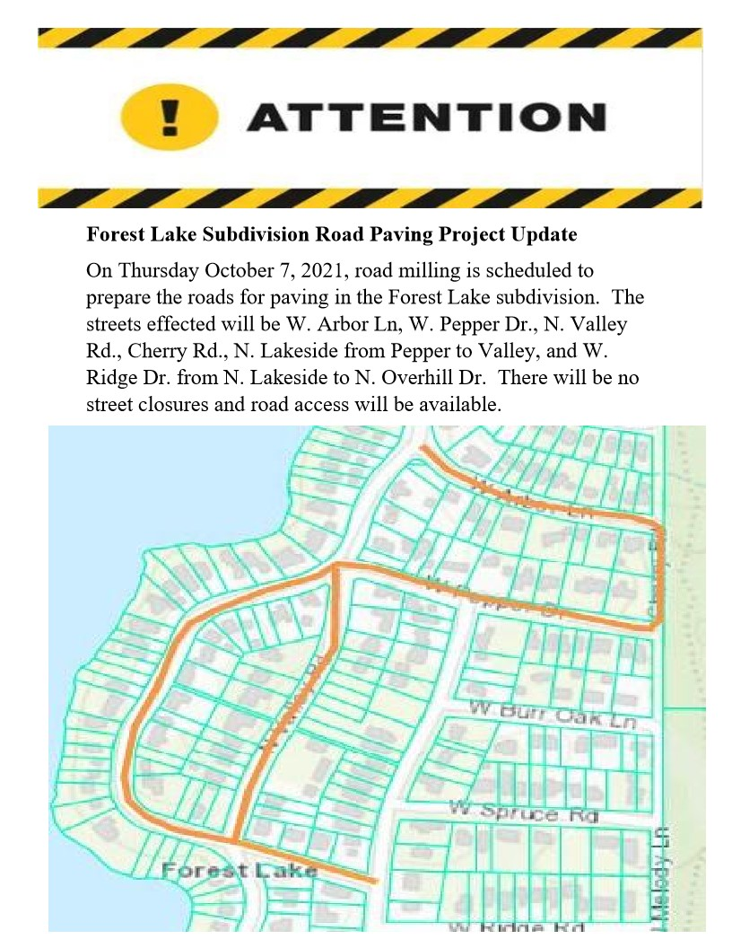 Forest Lake Paving Project