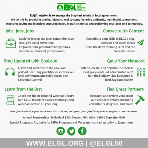 ELGL membership benefits infographic 2018