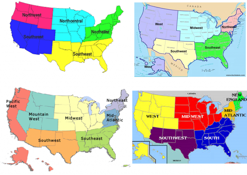 Data Stories With Matthias Regionalism Elgl - The-us-regions-map