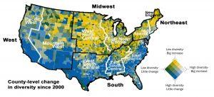 diversity change county level
