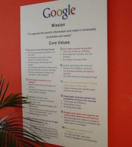 Google's core values