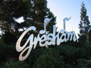 Gresham sign