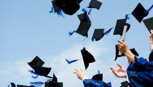 Graduation - Tossing the hats
