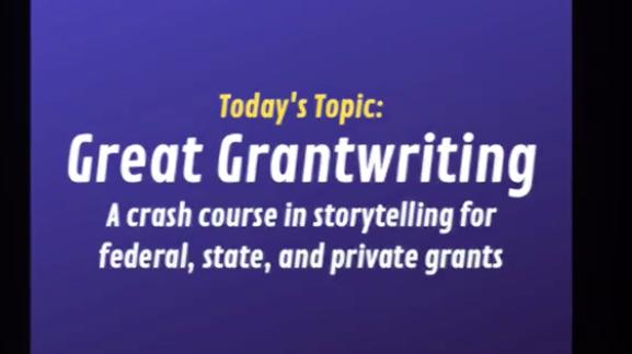 great grant writing screen shot