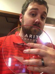 Doug Shontz with Clarity Award