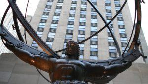Lee Lawrie's bronze Atlas statue in Rockefeller Center