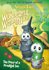 The cover of a Veggie Tales video about the Prodigal Son