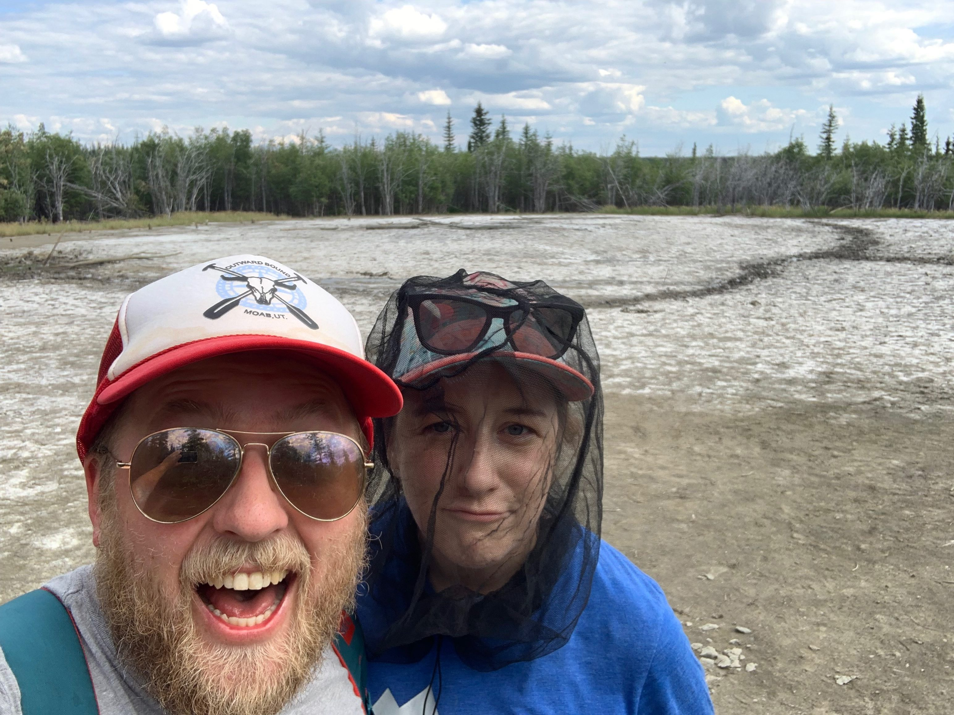"""Pouting at the """"mud volcanoes"""""""