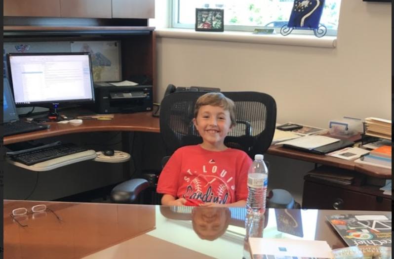 boy sitting at desk