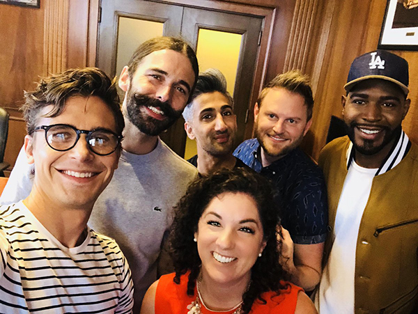 """""""Queer Eye"""" cast at Kansas City, MO, City Hall"""