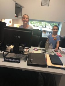 Bring A Child To Work, Two Girls at a Desk