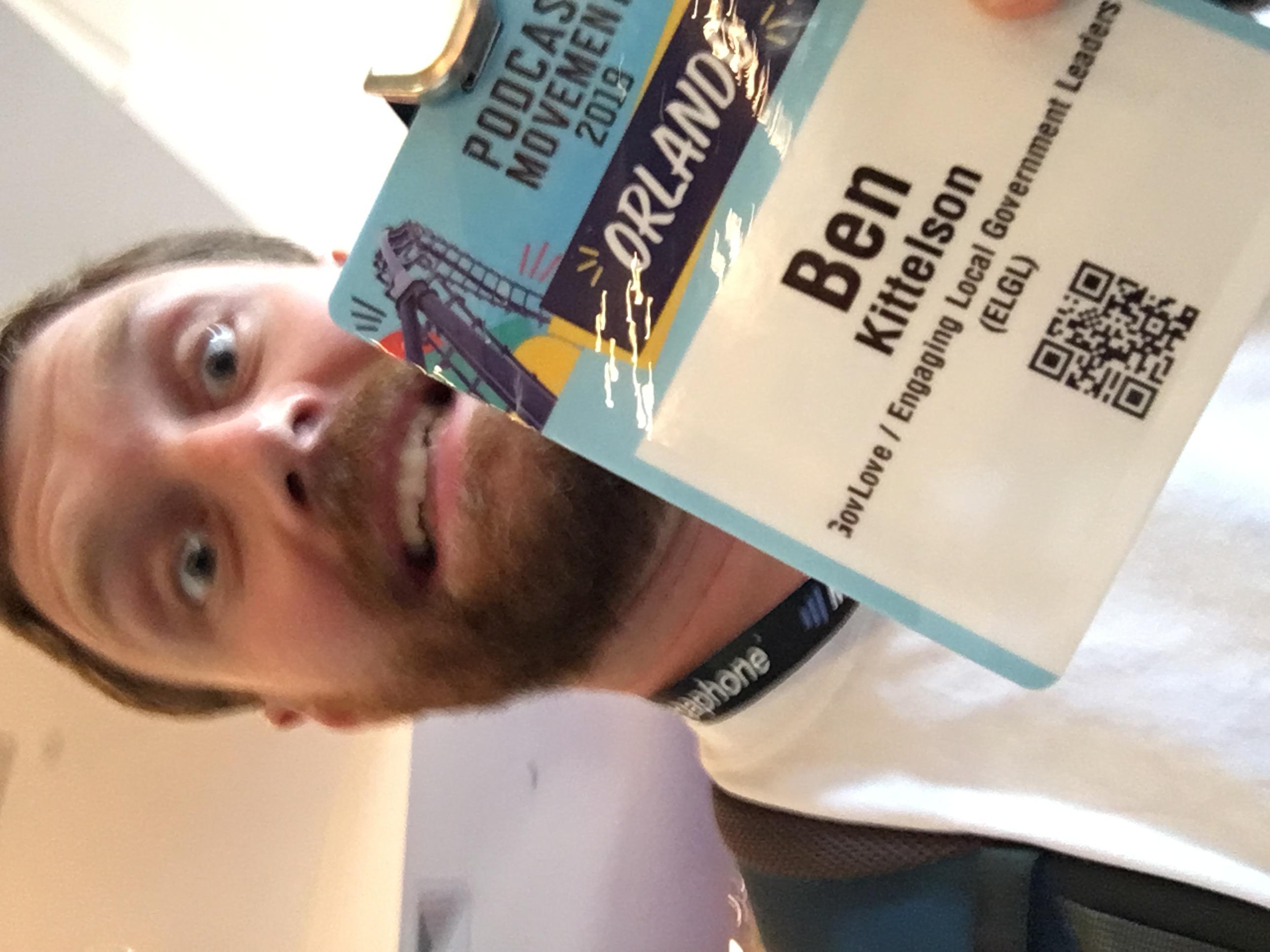 Ben Kittelson PM19 Selfie Day 1