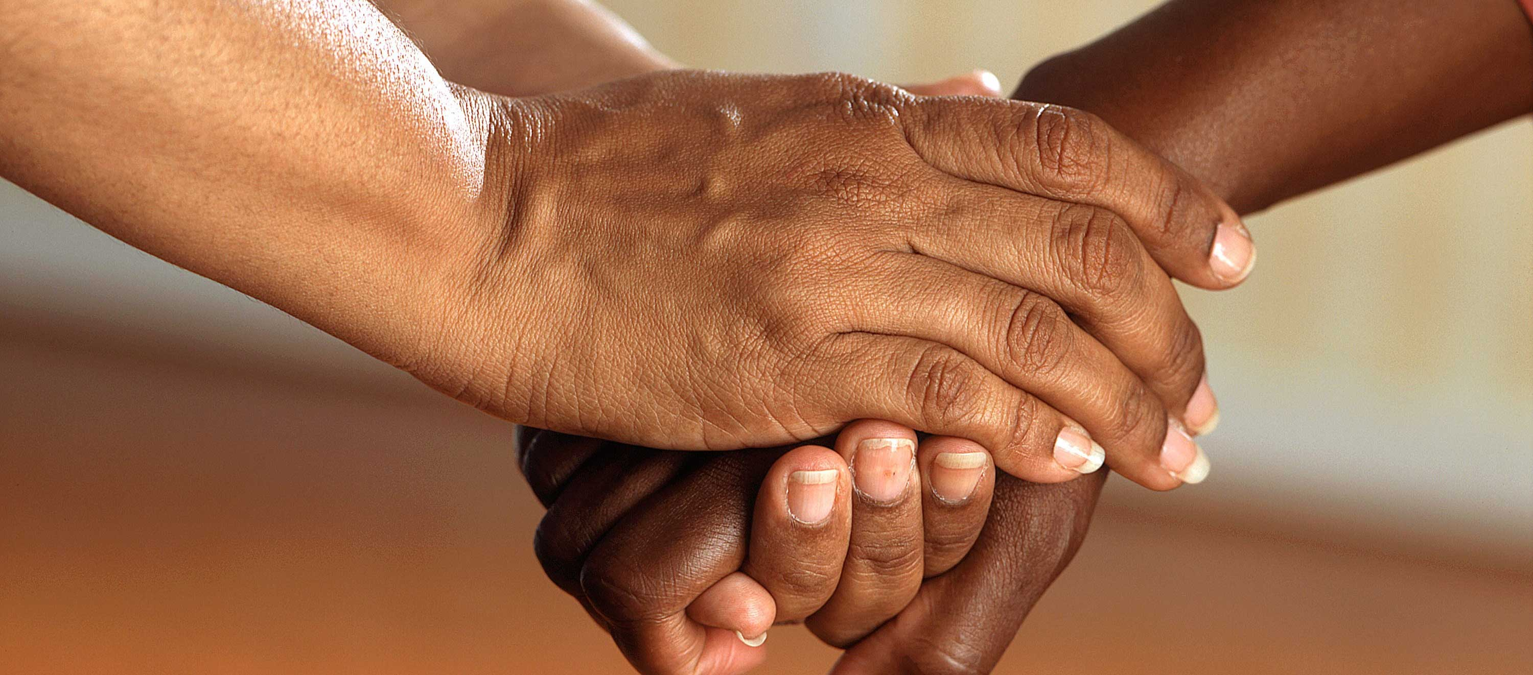Picture of hands being held