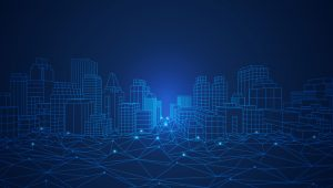 City connected by underlying, connected technology