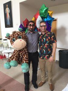two dudes & a giraffe