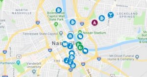 Nashville Recommendations Map
