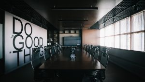 Do good things board room