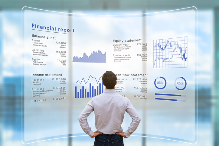 Digitized financial report