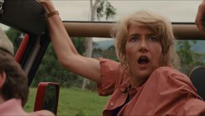 Laura Dern in the Jeep in Jurassic Park