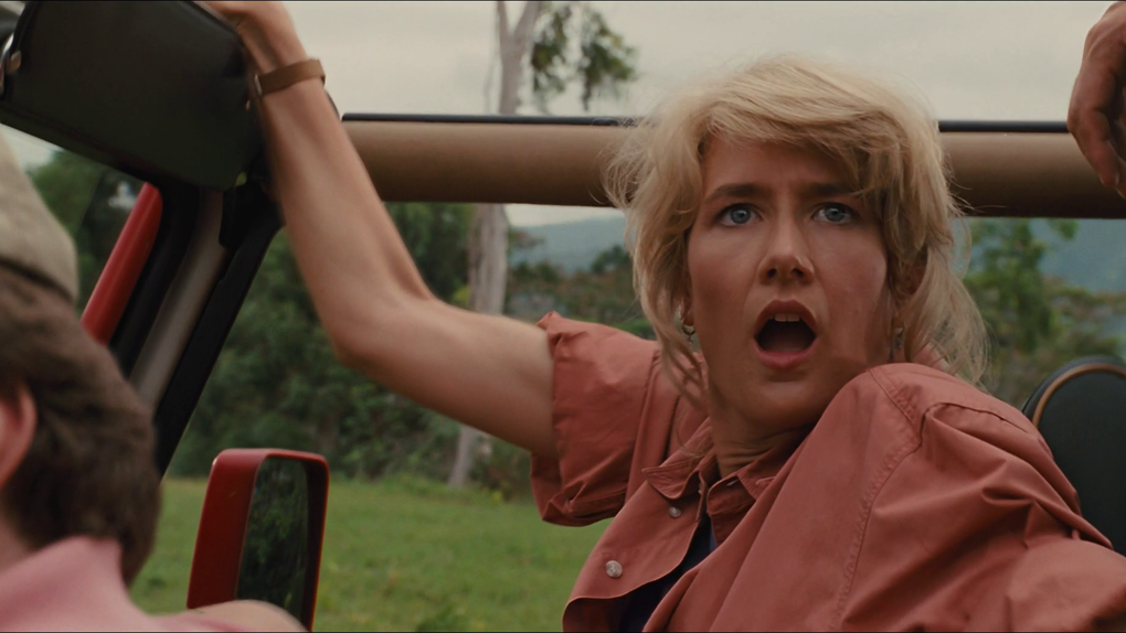 Laura Dern in the Jeep in Jurassic Park