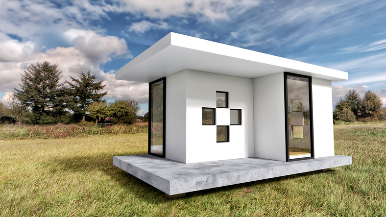 Tiny home exterior; GettyImages-1021365390.jpg