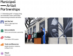 Municipal artist partnership