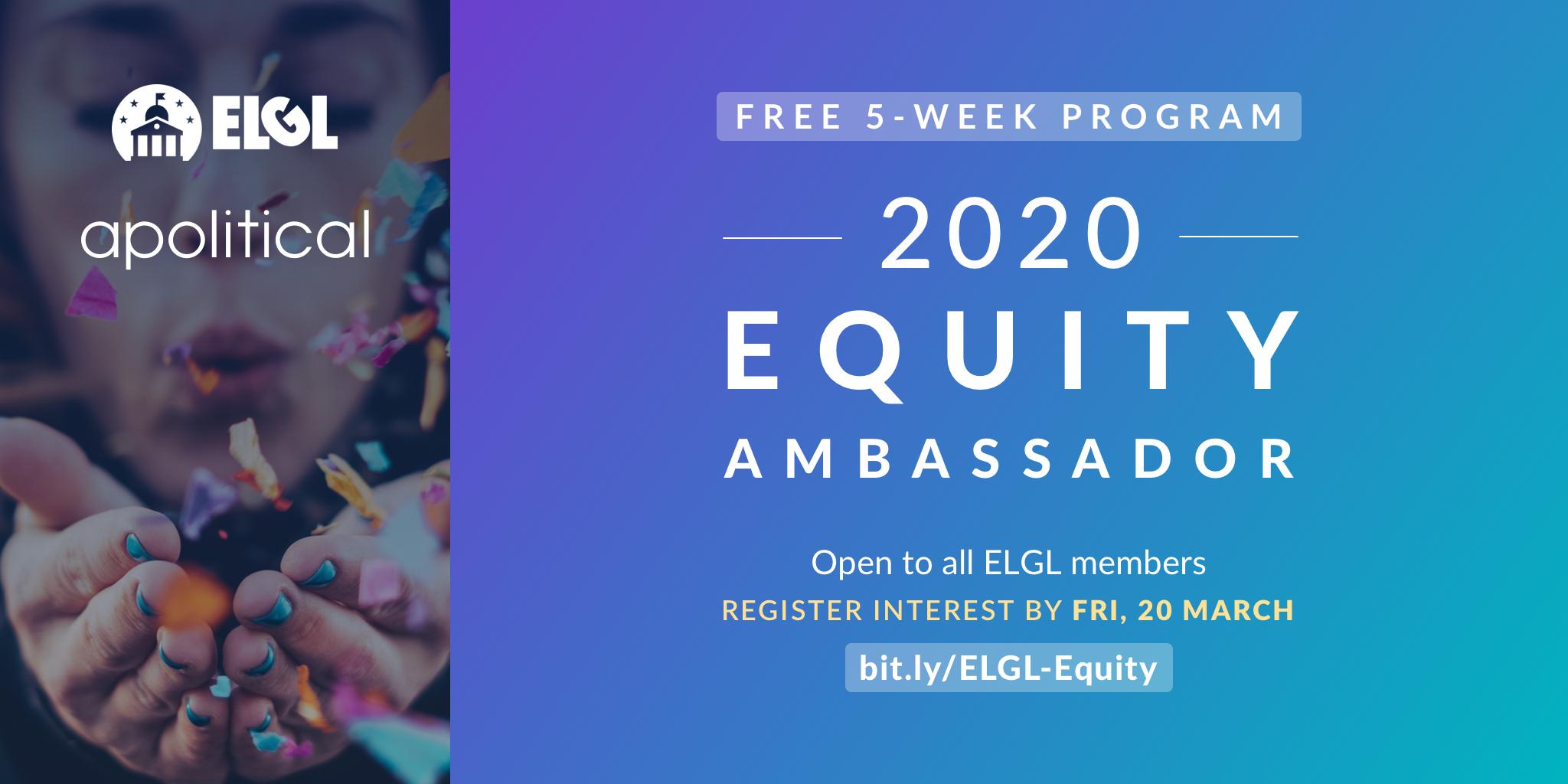 elgl-apolitical equity ambassadors program