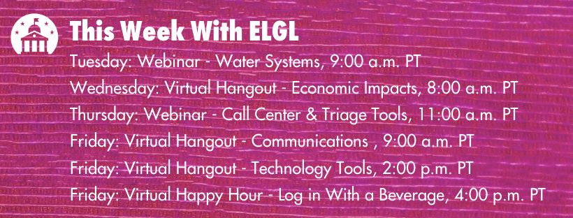 This week on ELGL