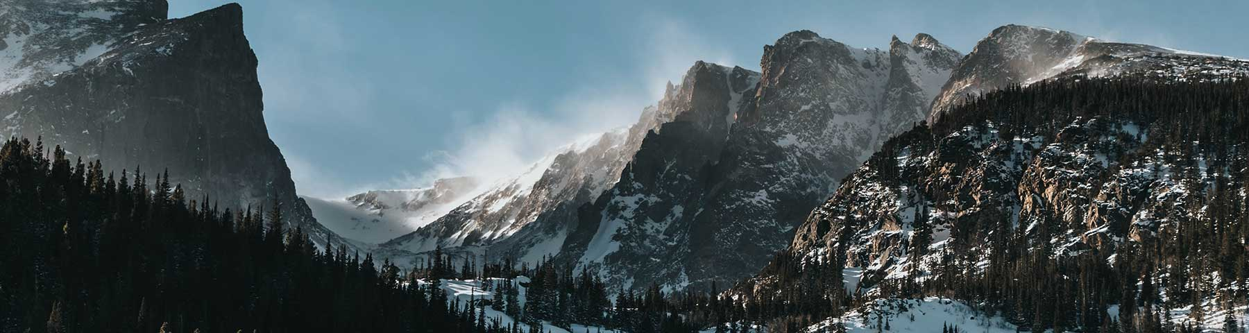 Photo of mountain with snow