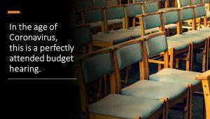 corona virus budget hearing