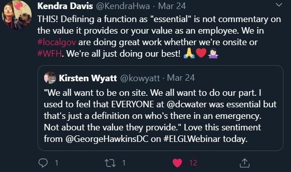 Tweet about essential