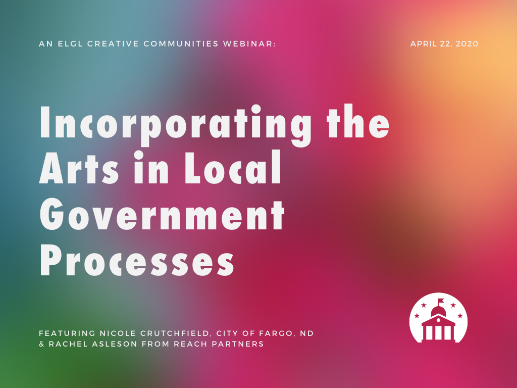 Incorporating arts webinar