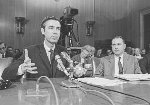 Fred Rogers testifying