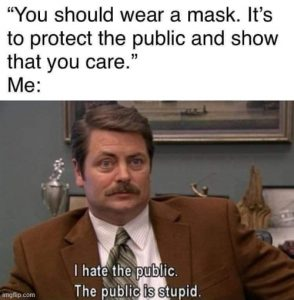 Meme about masks