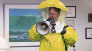 PArks & Rec Bubble suit