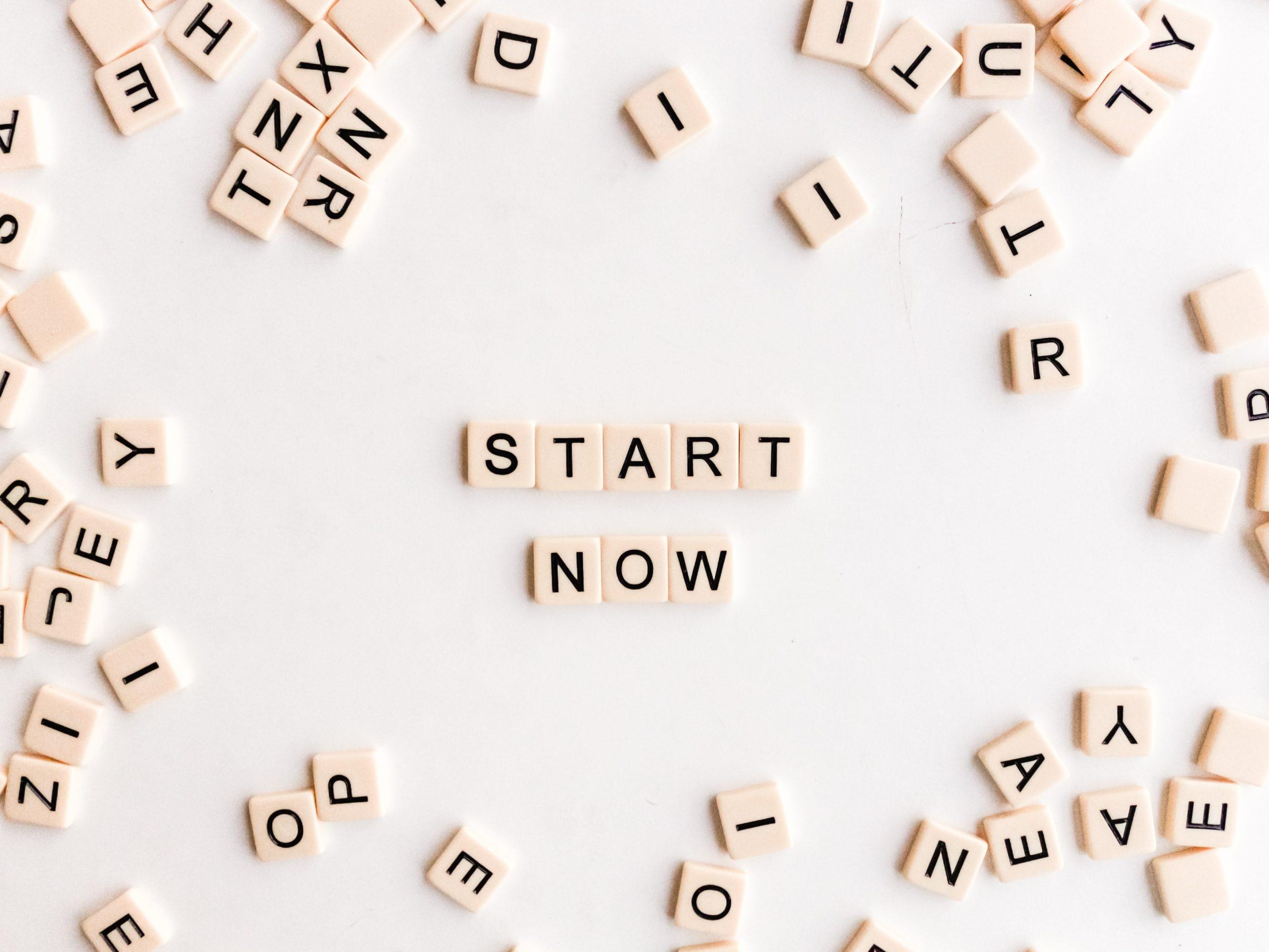 Start Now in Scrabble