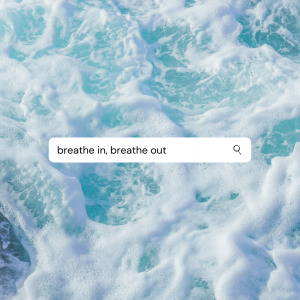 Breathe in breathe out graphic