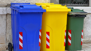 Recycling, trash, composting
