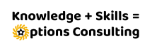 knowledge plus skills equals options consulting