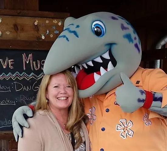 Debb with Shark