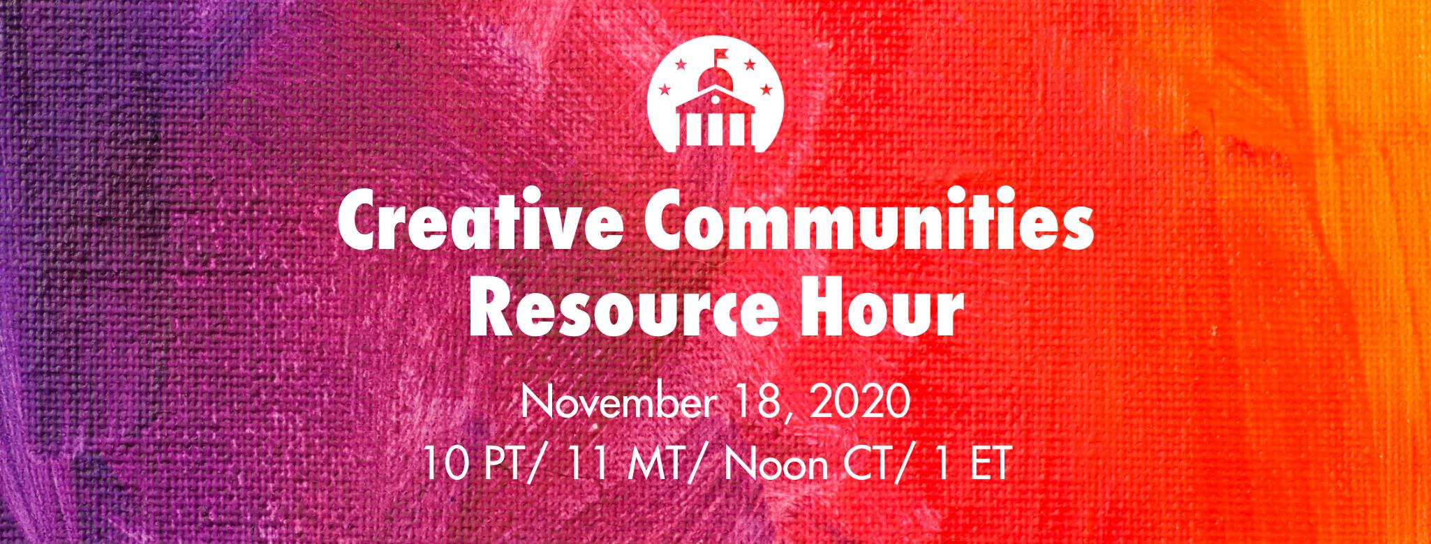 creative communities resource hour