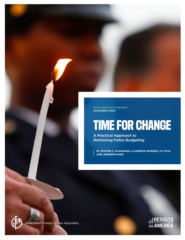 GFOA Cover that reads Time For Change