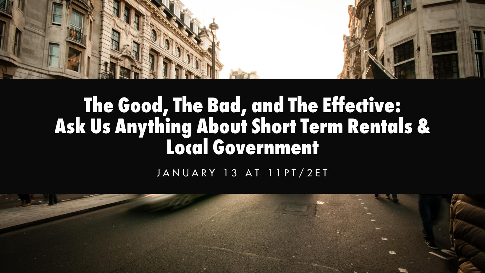 short term rentals AMA