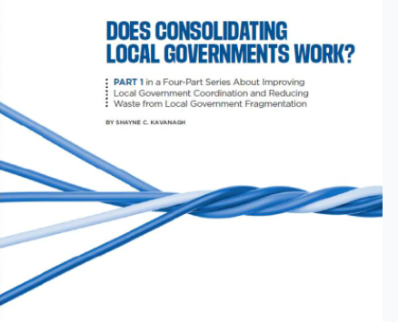 Does Consolidating Local Governments Work?
